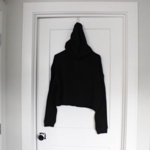 Square Sweaters - EUC: Square Organics Cropped Hoodie Sz Medium